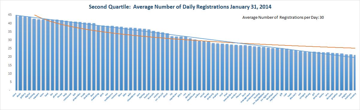 Registration Volume of new Generic Top Level Domains Jan 31 , 2015 – 3rd Quartile